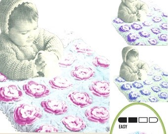 Instant Download  144 Beautiful crochet Blanket  Pattern Pram blanket   Newborn toddler - PDF