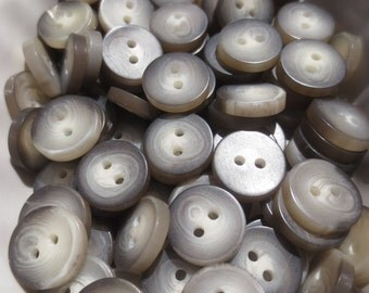 """Small Tortoise Buttons 13mm 2 Hole 1/2"""" (40)"""