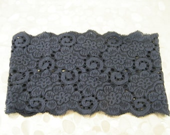 Wide stretch lace hairband -  elastic lace wig accessory  - elastic headband made in Israel