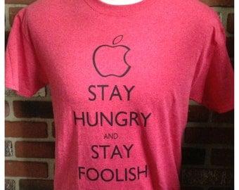"Steve Jobs's ""Stay Hungry & Stay Foolish"" Keep Calm Shirt"