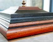 Large Keepsake Box Mens Valet Jewelry Box OOAK