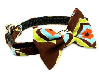Cat Collar - A Chocolate Treat - Matching Bow Tie and Flower Available