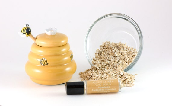 Oatmeal Milk and Honey Perfume Oil - Roll On Perfume Gift - For her - Under 10