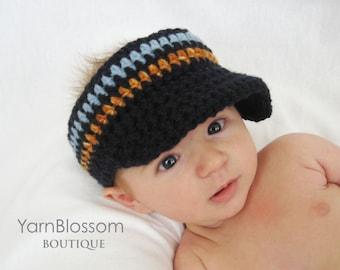 CROCHET PATTERN - Golf Visor - PDF digital pattern crochet visor hat pattern baby brim hat