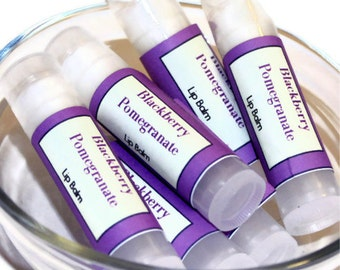 Blackberry  Pomegranate Moisturizing Lip Balm with Shea Butter