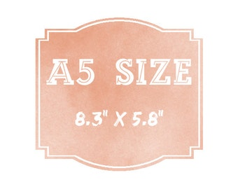 "Turn any A4 print into an A5 print (8.3"" x 5.8"")"