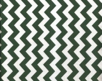 "85512 - Niagra Mills - Small chevron 3/8"" cotton fabric  in Hunter green color - 1 yard"