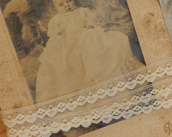 """Cream Lace, Trim, Edging -  Dolls, Baby, Mixed Media, Altered Couture, Crazy Quilts 1/2"""" w. 2yds/1.30"""