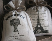 Handmade Gifts, Lavender Sachets, Eiffel Tower, French, Favors, Paris, French Country, Set of Two