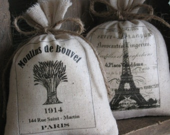 French, Lavender Sachets, Wedding Favors, Shower, Eiffel Tower, Paris, Made In USA, Mothers Day, Teacher Gifts,  French Country, Set of TWO