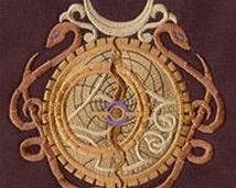 Steampunk Alchemy Academy Astrolabe Embroidered Flour Sack Hand/Dish Towel