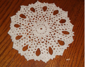 Crocheted Off-White Doily (e07)