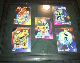 Fantastic Four, framed cards, marvel universe