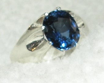 Reserved for Brian Mens Blue Sapphire Ring