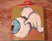 Winged Eyeball Flask