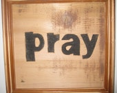 Recycled Art Wall Hanging Wall Art Pray Decorate Your Wall Inspiration Wall Art