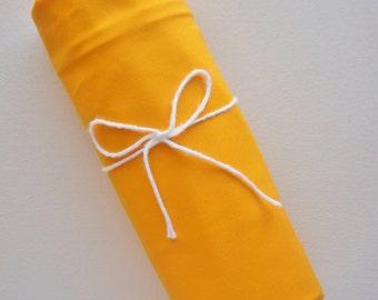 SALE - Flat or Fitted Crib Sheet - Kona Cotton - Papaya - Yellow Crib Sheet - Orange Crib Sheet - Yellow Crib Bedding - Baby Crib Sheet