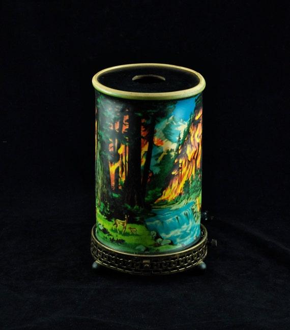 Vintage 1950 S Econolite Forest Fire Motion Lamp