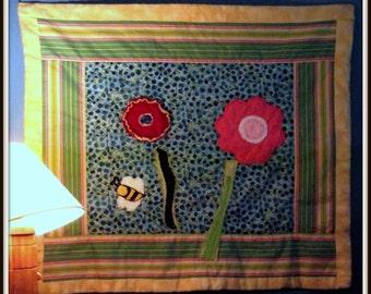 Summer Flowers Modern Quilt