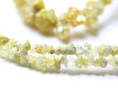 Diamond Yellow Rough Bead, set of 10 Natural Chip Beads Canary Precious Gemstone April Birthstone