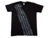 Man Men  T-shirt Tshirt ROAD-KILL Brakes Tyre Wheel BLACK