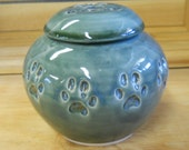 MADE TO ORDER - Ceramic Cat Cremation Urn, Handmade Pottery, Personalized Keepsake Urn