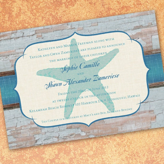 bridal shower invitations, beach themed bridal shower, beach themed wedding invitations, island bridal shower invitations, IN202