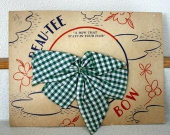 Hair Bow, Antique Hair Accessory, Beau Tee Bow