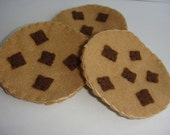 felt chocolate chip cookies pretend kitchen play