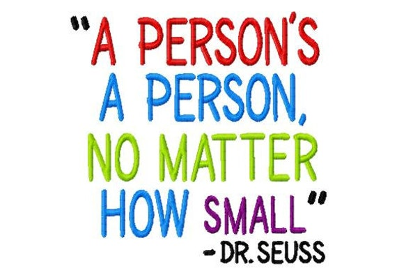 Dr Seuss A Person Is A Person