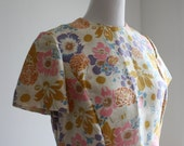 1960s Vintage Floral Shift Dress