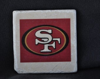 San Francisco 49ers Coasters Set of 4 handcrafted