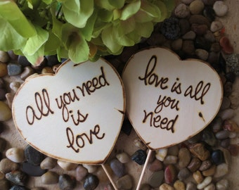 Wedding Photo Props Engagement Photo Shoot Photographers All you Need is Love Wood Wedding Decorations