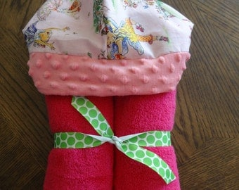 Hooded Towel made with Fancy Nancy Fabric
