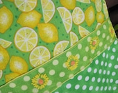 """14"""" x 14"""" FOOD PILLOW COVER - Celebrate Sunshine Yellow and Citrus Lemonade Grove Vitamin C and Lime Color"""