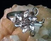 Fork Bracelet with Vintage Rhinestone Pendant