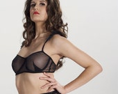 Sheer Underwire Bra with ruffles- Free Shipping