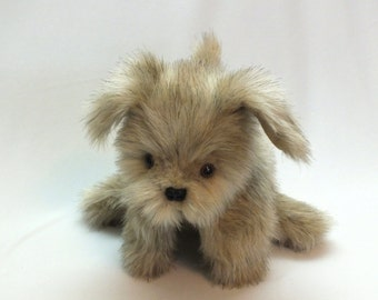 Tan Puppy Dog Hand Puppet , with floppy ears