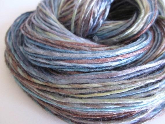 Handspun Vegan Yarn, 1-ply Hand-dyed Rayon