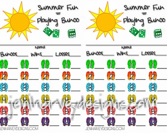 Summer Bunco Score Cards