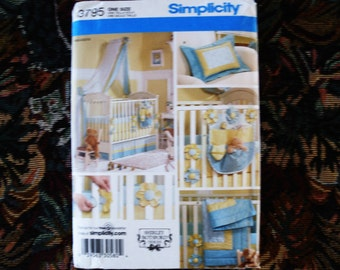 SIMPLICITY Pattern 3795 One Size Nursery Accessories.