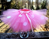 Minnie Mouse Tutu, in Red or Pink, Sizes 18 months - 3T