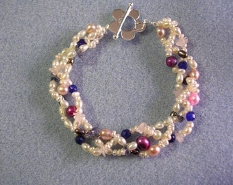 Pearl and Gemstone Bracelet