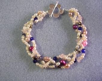 Pearl and Gemstone Bracelet