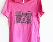 mothers gift camera tshirt holga berry tshirt  womens