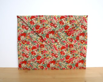 iPad sleeve padded, iPad cover, iPad case - floral Liberty fabric
