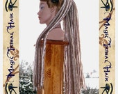"DARK BLONDE DREADLOCKS yarn dread falls 112 dreads 60cm/ 24"" long Steampunk medieval Reenactment Fantasy Tribal Belly Dance hair piece"