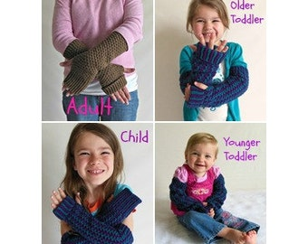 Custom Made to Order Knit Fingerless Gloves, Arm Warmers, Hand Warmers, Wrist Warmers--Many Colors Available