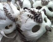 White Owl / Venetian Specialty Custom Animal Mask