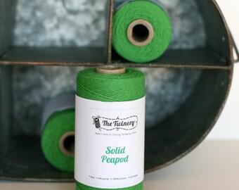 Peapod Green Bakers Twine full spool 240 yards, green bakers twine, green craft twine, green twine, gift wrap, scrapbook embellishment,